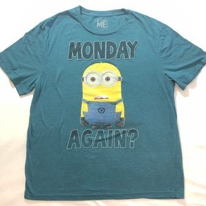 2XL Despicable Me Minion Monday Again? T-Shirt
